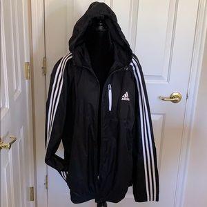 ADIDAS CLASSIS BLACK ZIP FRONT Warm Up Jacket L
